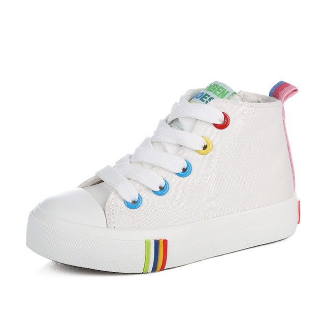 Children shoes girls children canvas shoes Candy color multicolour 2017 spring autumn kids shoes cotton-made shoes high sneakers