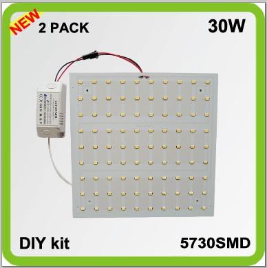 220V 230V 240V 2 PACK 30W კვადრატული LED პანელის შუქის წყაროს ჭერის მსუბუქი techo LED PCB LED ფირფიტა 3200lm LED 2d TUBE 2 YEAR გარანტია