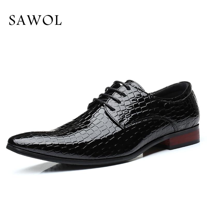 Homens Sapatos Negócios De Dos Cavalheiro blue Primavera Marca Sawol Brogue Tamanho Mais Outono Black 46 red 47 Vestido Pu Grande Sapatas Formal 4tBxY