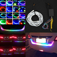 New Auto Car Tailgate Turning Signal Light Bar RGB LED Strip Trunk Light Strips Multicolor Braking