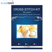 Shoes Cross-Stitch-Sets DMC Flower-Vase Embroidery-Kits 14CT for Poppy DIY Baby