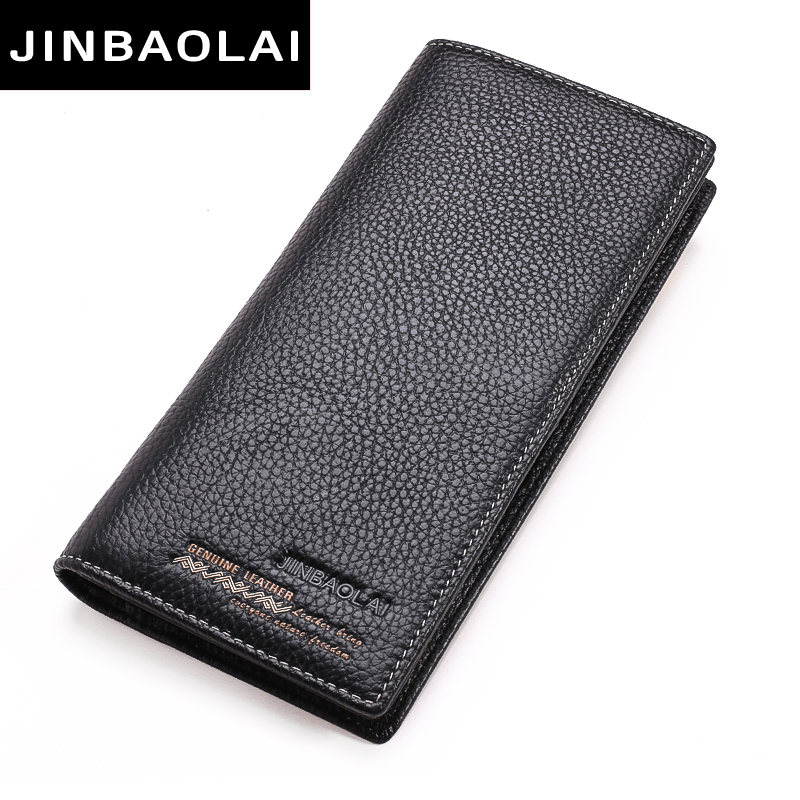 Genuine Leather Men Wallets Luxury Brand 2017 New Design High Quality Fashion Male Purse Card Holder Long Clutch Business style