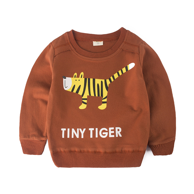 Spring Autumn Kids hoodies sweatshirts cotton Cartoon Print car bus Animal boy girl Sweater toddler coat tops Children clothes