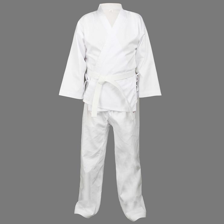 Quality Dobok child adult karate uniform suit WTF Taekwondo kick boxing MMA Martial art training clothes dobok 55%cotton kimono mma kick boxing karate sparring gear martial arts headgear taekwondo full face shield helmet protector