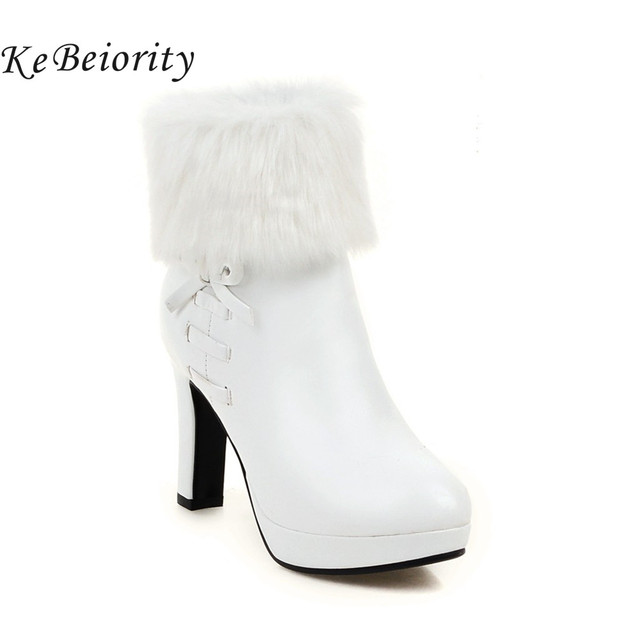 New 2017 high heels boots women autumn and winter boots platform ...