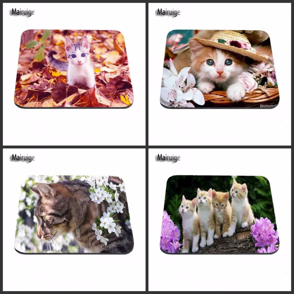 Customized Luxury Printing 4 PC of Cat Eyes Stylish Gamer Gaming Comfort Optical Laser Non Slip PC Mouse Pad