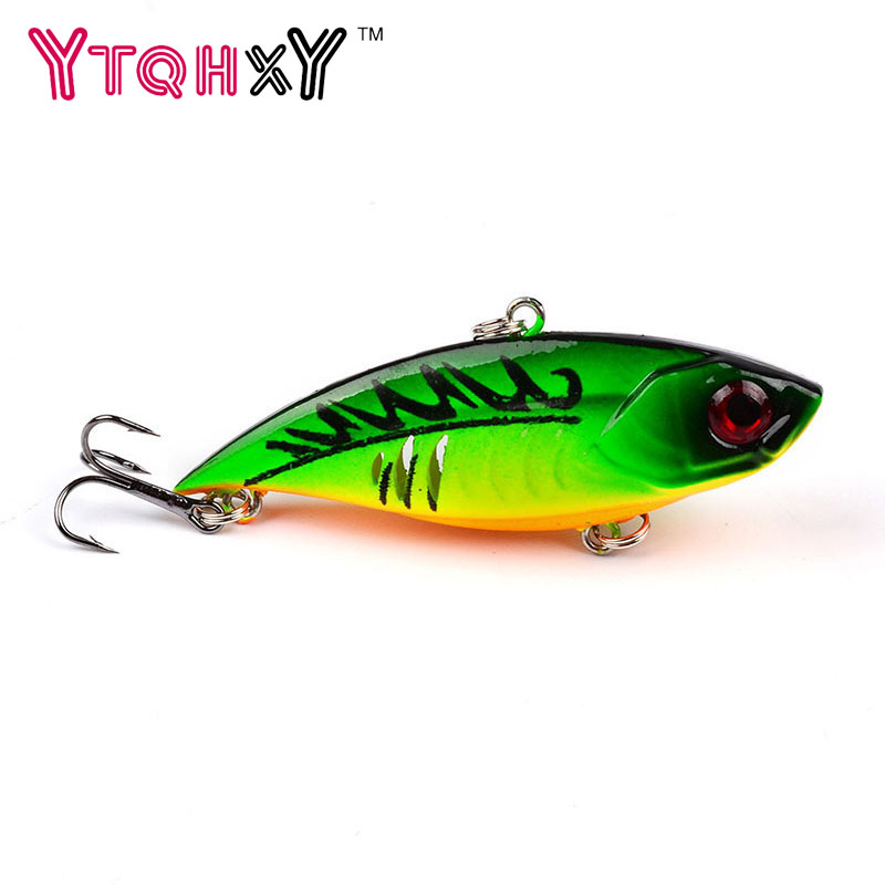 1PCS 6.5cm 11g VIB Fishing Lures 5 colors hard Bait Treble Hooks iscas artificiais para pesca Crankbait Fishing Tackle YE-318 1pcs high quality 5 4g 6cm fishing lures minnow crank bait crankbait bass tackle treble hooks fishing tackles hard baits pesca