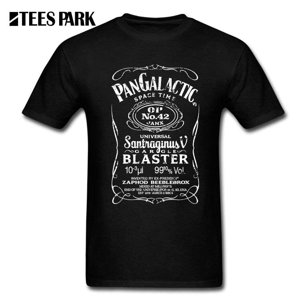 Short Sleeve Tshirt Big Size Pan Galactic Gargle Blaster No. 42 WHITE Men Crew Neck Short Sleeve T-Shirt Comfort Youth Tee Shirt
