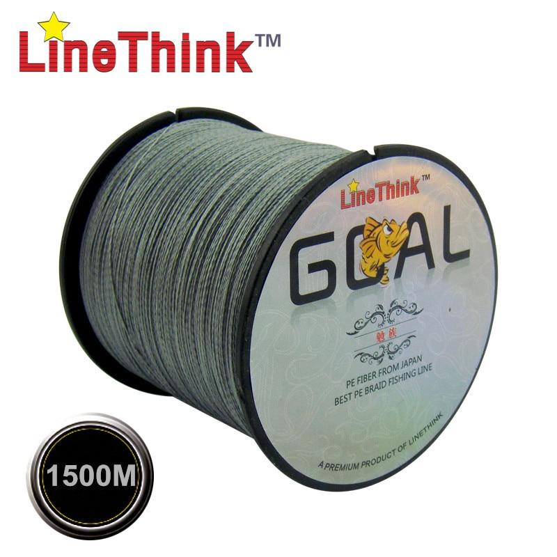 1500M GOAL LineThink Brand Best Quality Multifilament 100% PE Braided Fishing Line Fishing Braid Free Shipping