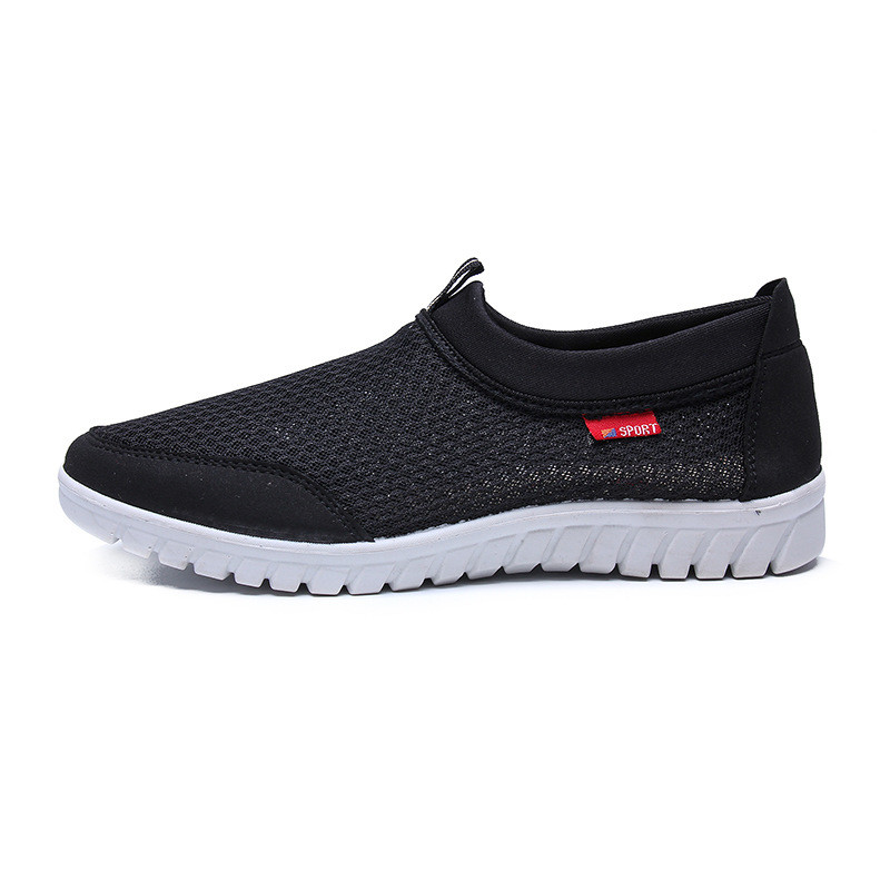 2018 New Spring And Autumn Mens Single Mesh Shoes Casual Shoes A Pedal Comfortable Soft Bottom Lazy Shoes Mens Shoes Men Shoes