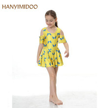 HANYIMIDOO 2017 NEW Arrival Girls Muslim Swimwear Kids Skirt Modest Islamic Bathing Suit Beach Wear Holiday Swimsuit C