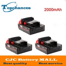 3X High Quality 18V 2000mAh Li-Ion Replacement Rechargeable Power Tool Battery for Milwaukee M18 XC 48-11-1820 M18B2 M18B4 M18BX