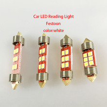 цена на 1pcs 31mm 36mm 39mm 41mm C3W C5W C10W LED 6 smd Car Festoon Light Auto Housing Interior Dome lamp Reading light car styling