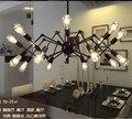 Moderne loft eisen spinne anhänger licht wohnzimmer restaurant retro dekorative hängen lampen-in Pendelleuchten aus Licht & Beleuchtung bei
