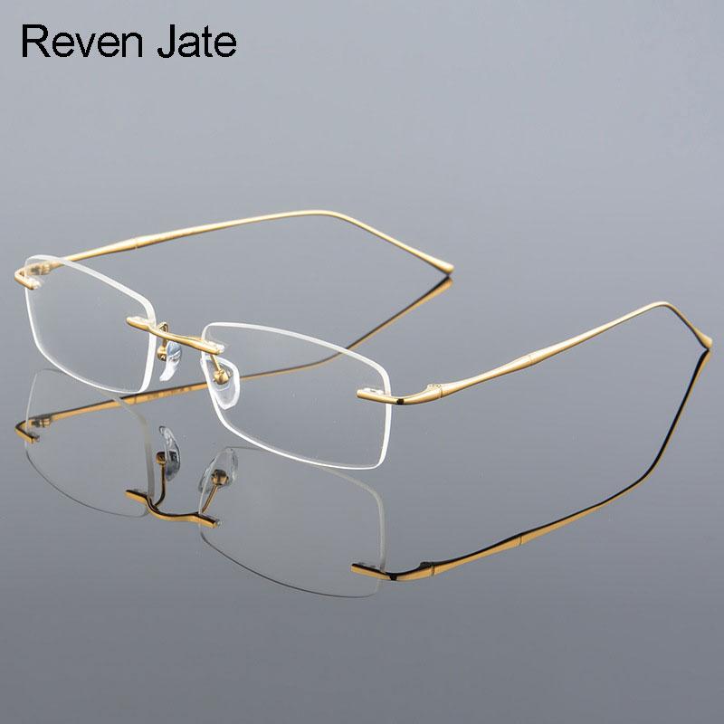 b81d6505c1 Reven Jate 632 Rimless Men Eyeglasses Frame Optical Prescription Glasses for  Man Eyewear Fashion Rimless Spectacles-in Eyewear Frames from Apparel ...