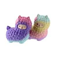Jumbo Squishy Vlampo ALpaca Squishies Kawaii Squishy Slow Rising Licensed 19cm Animals Galaxy Rainbow Stress Toy