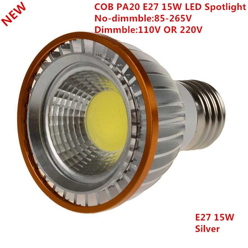 Image 2 - 1pcs Newest PAR20 COB dimmable E27 LED Spot Light 15W par20 Bulb Lamp Warm White/Cool White/Pure White Spot Downlight Lighting-in LED Bulbs & Tubes from Lights & Lighting
