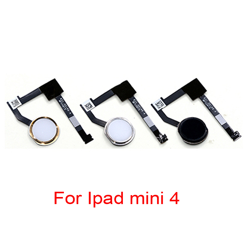 For Ipad Mini 4 Home Button Flex Cable With Fingerprint Touch ID Sensor Assembly Replacement