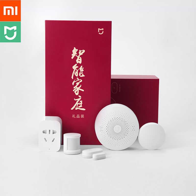 Xiaomi Aqara inteligentna odzież domowa wielofunkcyjna bramka inteligentne gniazdo bezprzewodowy przełącznik ludzkie ciało i drzwi oraz czujnik na okno 5 w 1