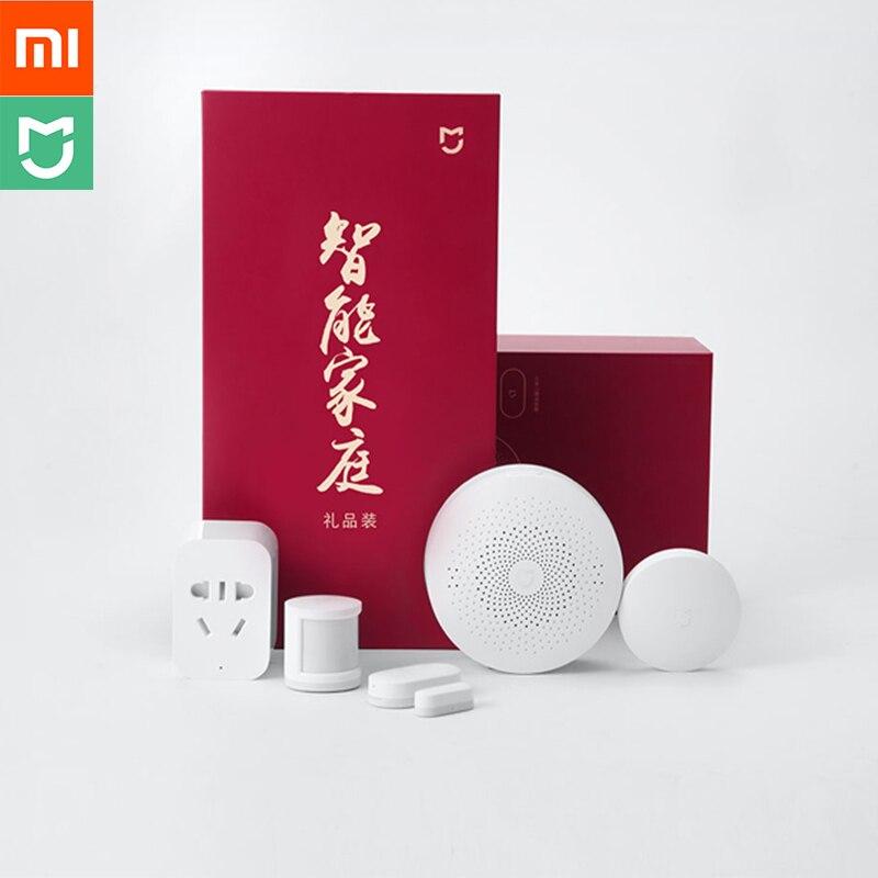 Xiaomi Aqara Maison Intelligente Costume Passerelle Multi-fonctionnelle Prise Intelligente Sans Fil Commutateur Corps Humain Et Capteur De Porte et De Fenêtre 5 en 1