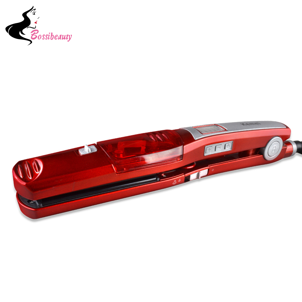 Fast Heating Steam Hair Straighteners Professional Hairstyling  Ceramic Hair Straightener Flat Iron Styling Beauty Hair Tool 2017 new hot sale professional salon ptc heating white color ceramic negative ions steam automatic hair curler hair style tools