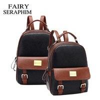 2015 Fashion Luxury Women Backpack Patchwork Bear Girl Student School Bags Ladies Pu Leather Mochila Escolar