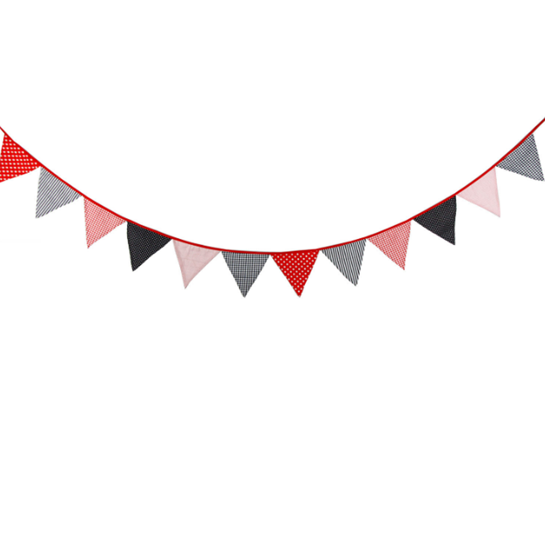 New 1pcs 20cm Recycle Printing Banner Cotton Fabric Pennant Flag For Party Decoration ECO Style