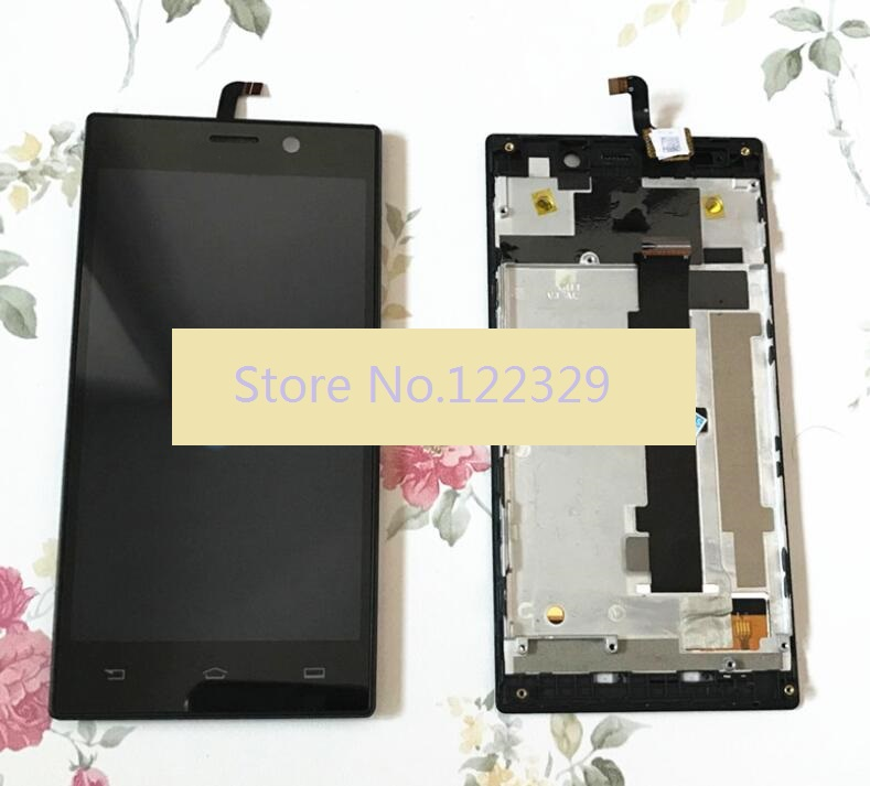 IN STOCK! 5.0 LCD Display With Touch Screen + frame digitizer assembly for philips xenium v787 free shipping 100% warranty image