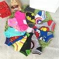 Unisex one size Super hero socks kids hosiery children sock for boys and girls iron man cotton captain America children