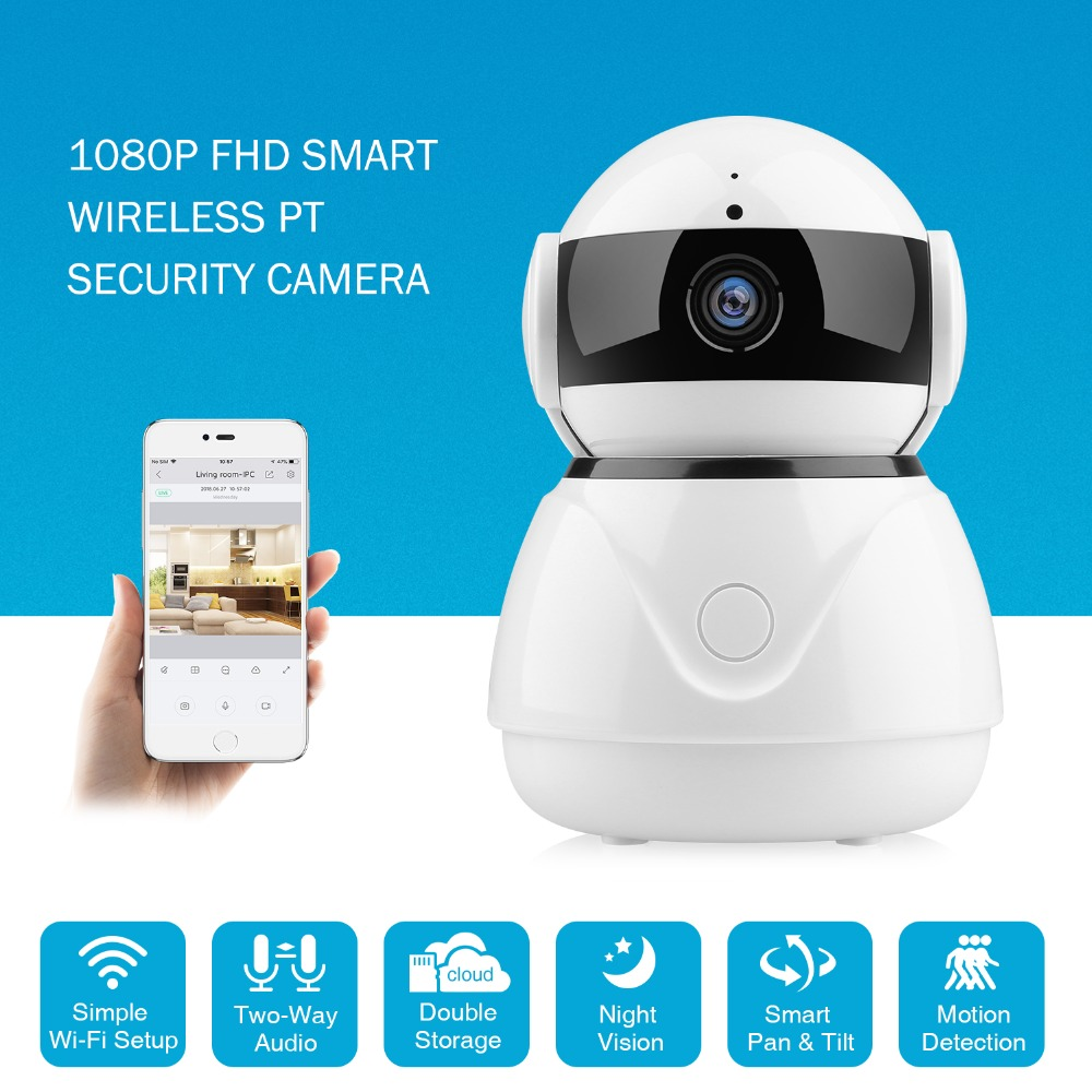 SANNCE IP Camera 1080P HD Smart IP Wireless Camera CCTV home security 2.0MP TWO-WAY Audio IR-cut night vision wifi baby monitor sannce 720p hd smart wireless ip camera 1 0mp two way audio ir night vision wifi ptz camera cctv home security baby monitor