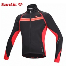 Santic Cycling Spring jersey Long Sleeve Fleece Men blusa masculina Bike maglie ciclismo manica lunga Jersey M5C01060R