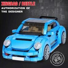 Xingbao 03015 944Pcs Creative MOC Technic Series The Blue Car Set Building Blocks Bricks Compatible LegoINGs TECHNIC Juguetes