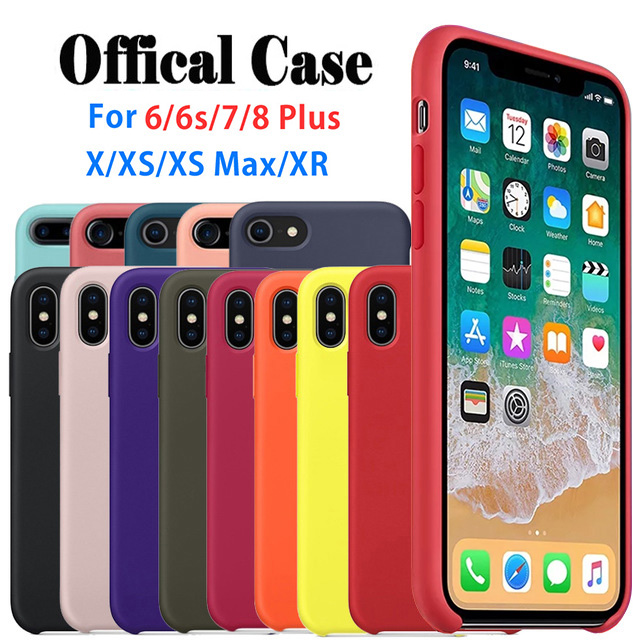 Galleria fotografica Have LOGO Original Silicone Case For iPhone 5 6 6S 7 8 Plus For iPhone X XS Max XR Cover Official Silicon Case With Retail Box