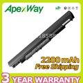 Apexway 14.4 В 2200 мАч Батареи Ноутбука HSTNN-LB6V HSTNN-LB6 Для HP HS03 HS04 240 245 250 255 для Ноутбуков 14-af0XX 15g-ad0XX