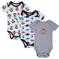 Baby bodysuits 3PCS 100% Cotton Infant Body Summer Short Sleeve Clothing Similar Jumpsuit Printed Baby Boy Girl Bodysuits