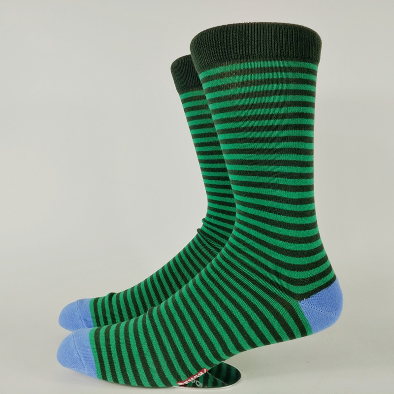 Mens Colorful Toe Strip Skate Street Crew Socks USA Size 8-11 ,Euro Size 41-44 (Not Thick)