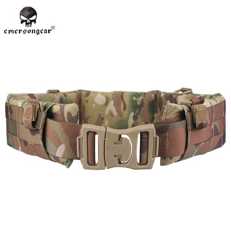 Emersongear High Quality Designer Belts Men MOLLE Padded Patrol Belt Men Airsoft Combat Military Army tactical