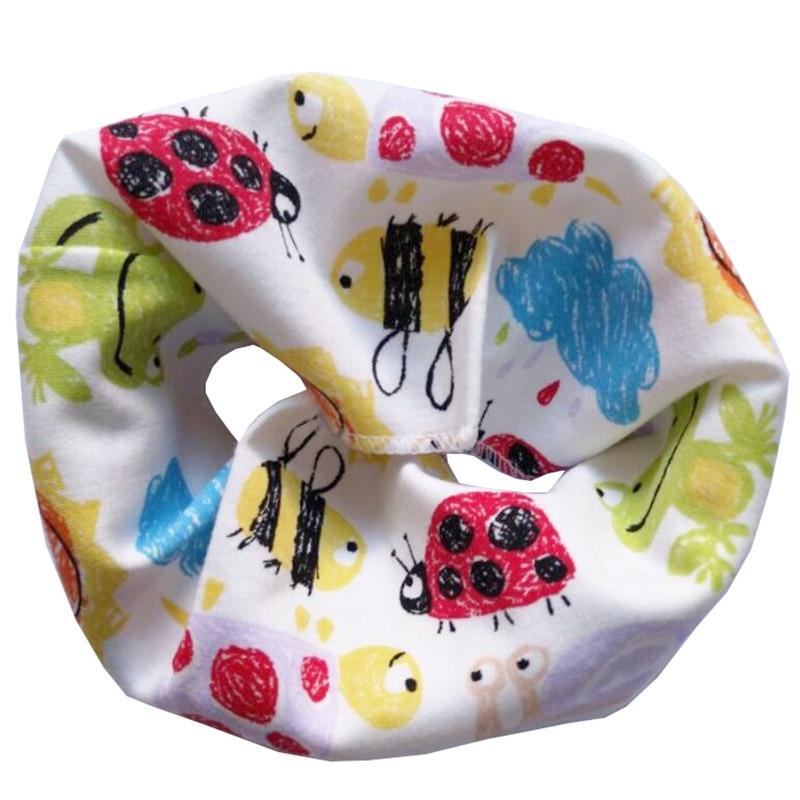 Новинка; Модный хлопковый шарф для маленьких девочек; осенне-зимний шарф для маленьких мальчиков; Детский шарф с круглым вырезом; Детские шарфы; волшебный шейный платок - Цвет: Ladybug Graffiti