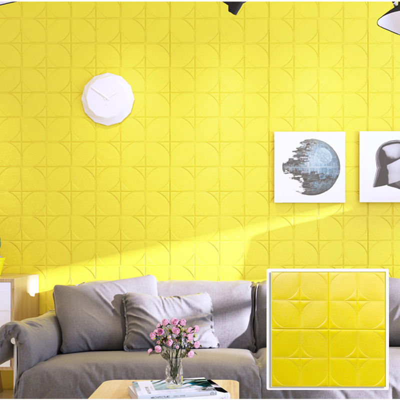 PE Foam 3D Wall Stickers Safty Simple modern Home Decor Wall Stickers DIY Wall Living Room Kids Bedroom Decorative Wall Sticker