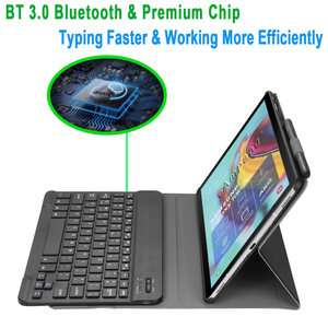 Image 3 - Case for Samsung Galaxy Tab S5e 10.5 Keyboard Case T720 T725 SM T720 Cover Russian Spanish English Bluetooth Keyboard Funda Case