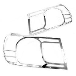 Chrome stylizacja głowy światła pokrywa dla Toyota Land Cruiser FJ100 06-09