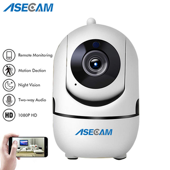 ASECAM HD 1080P Cloud Wireless IP Camera Intelligent Auto Tracking Human Home Security CCTV Network Wifi Camera Motion Detection Surveillance Cameras