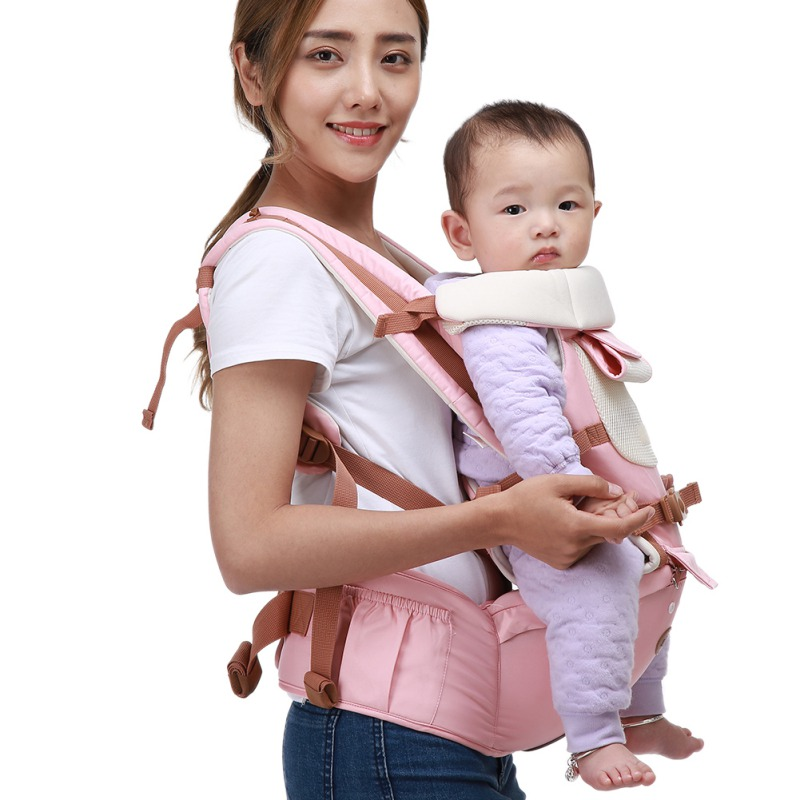 Cotton Baby Backpack Infant Baby Carrier Sling Wrap Comfortable Breathable Multi-function Strap