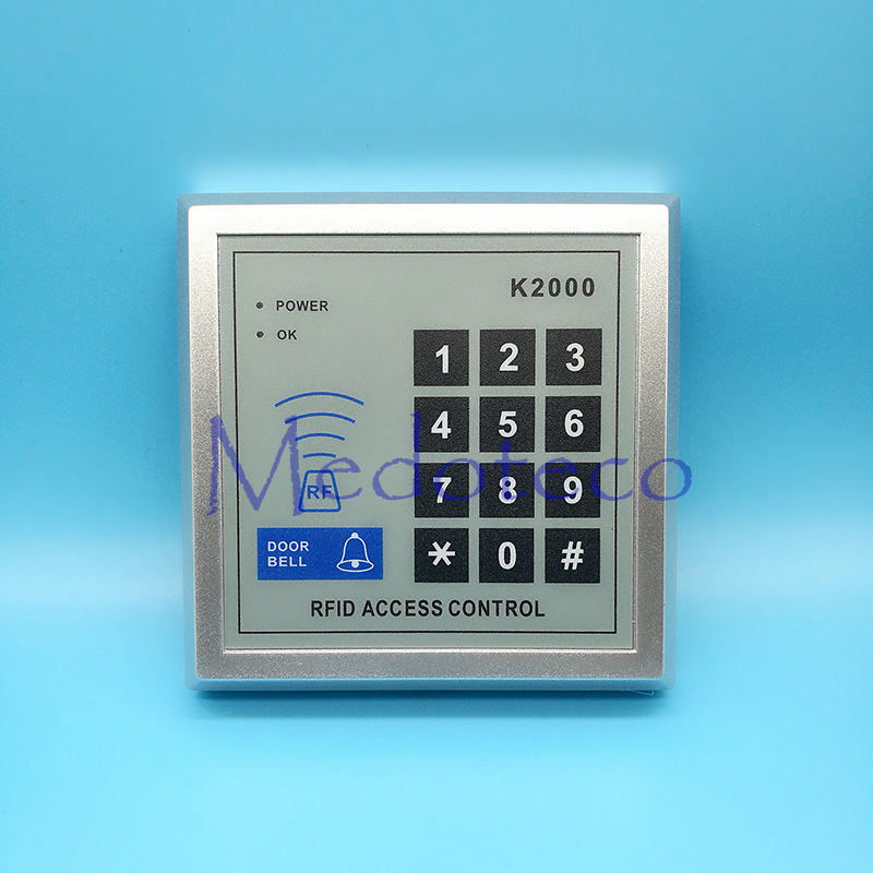 125khz RFID Proximity Card Access Control System RFID/EM Keypad Card Access Control Door Opener Optional Rain Cover waterproof door security access control system 125khz rfid card access control outdoor opener with rain cover 10 piece keyfobs