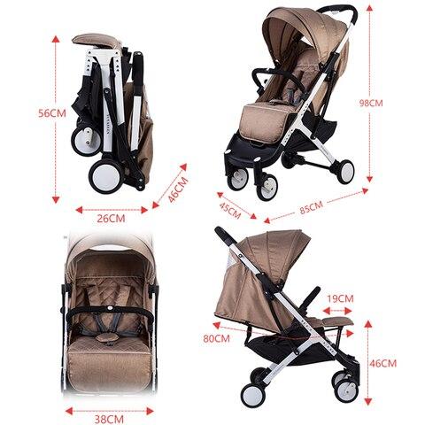 aviao das criancas do bebe reclinaveis leve dobravel carrinho no