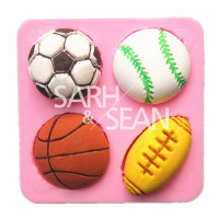 M0698 soccer basketball football tennis ball cake mold chocolate mould fondant kitchen baking cake tool cake decoration bakeware