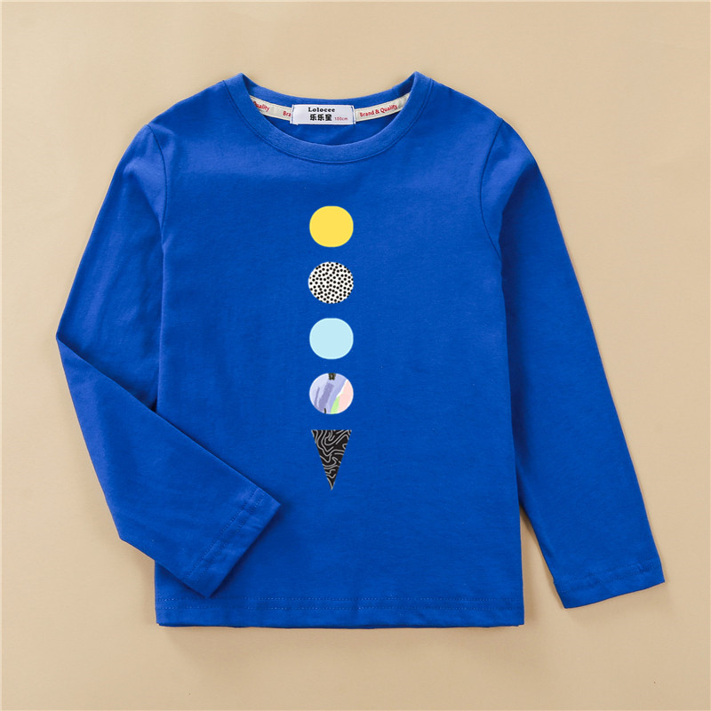 Kids US size clothes children tops 100% cotton shirt boy long sleeve t-shirt 4 planet design girl pineapple print tees 3