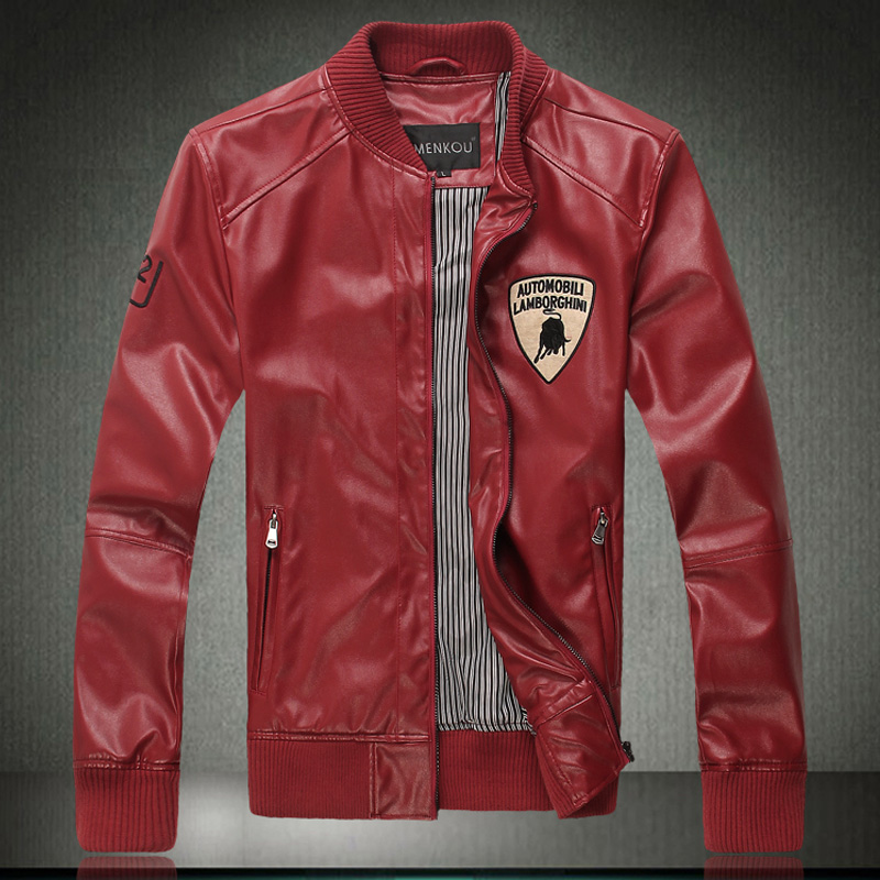 High Quality Mens Red Leather Jacket-Buy Cheap Mens Red Leather ...
