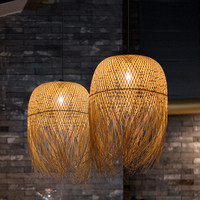 Chinese bamboo pendant lights Creative Hang lamps led lights for home nordic dining Room pendant Lamp fixture loft style decor