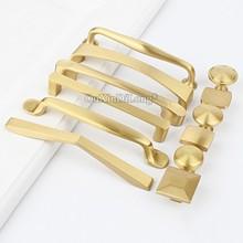 10PCS High Quality European Solid Brass Furniture Handles Cupboard Wardrobe Drawer Kitchen Cabinet Door Pulls and Knobs